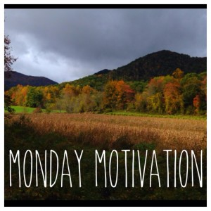 DAY ONE: What's your motivation to move on a Monday? ANSWER: My country road!